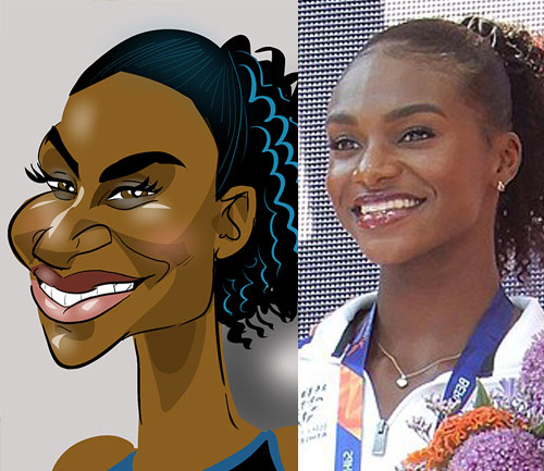Dina Asher Smith Caricature