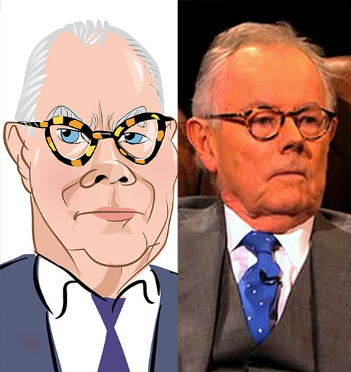 Michael Whitehall caricature