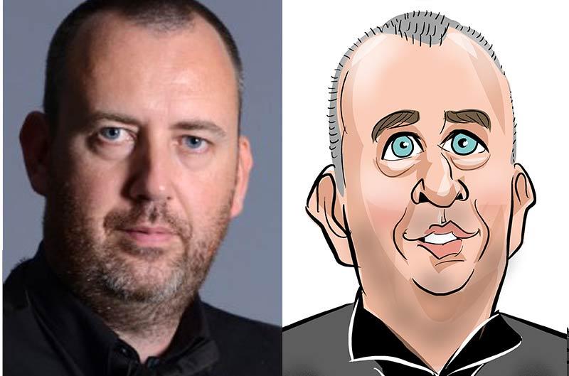 Mark Williams caricature snooker