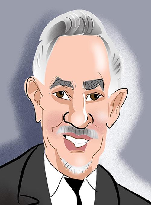Gary Linekar Caricature