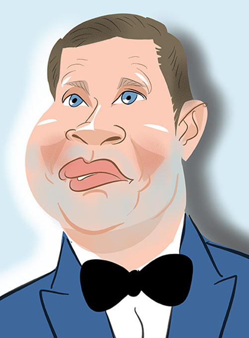 Dermot O'Leary caricature x factor