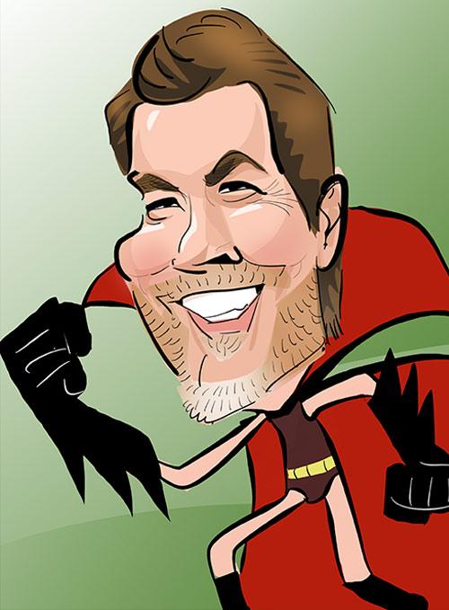 Rhod Gilbert caricature