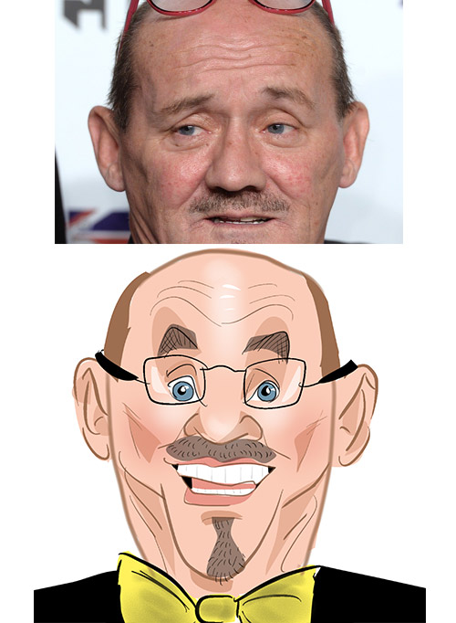 Brendan O'Carroll caricature mrs brown's boys