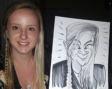 Teenage not ashamed of her caricature
