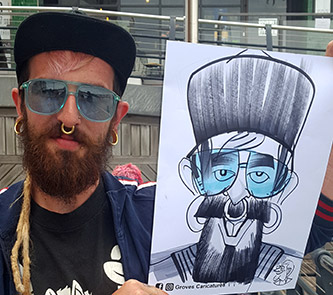 Funky man from Brighton dislikes his caricature