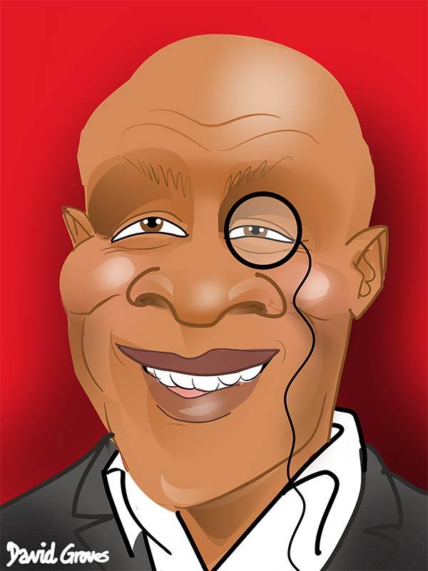 Chris Eubank Caricature cartoon