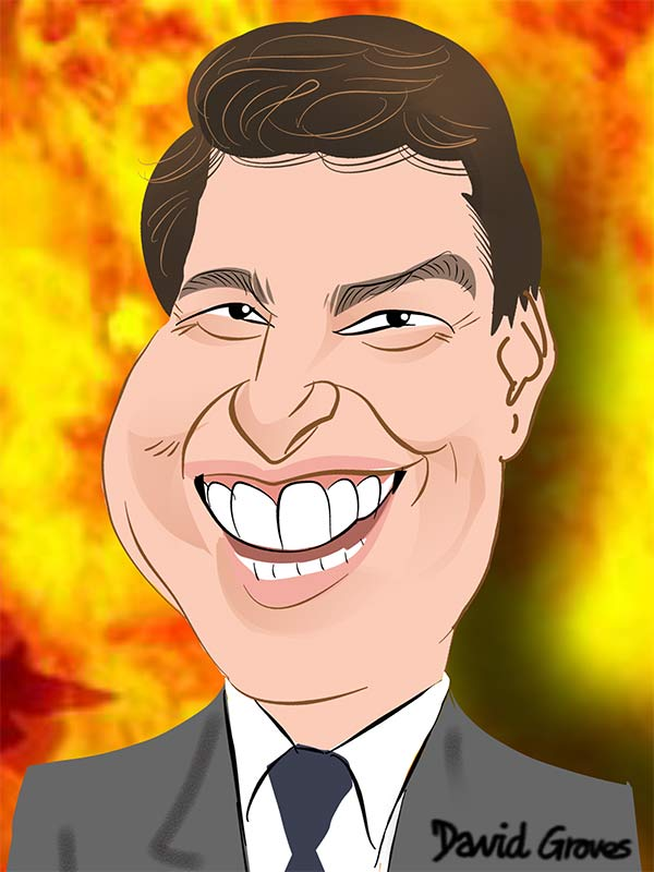 Tom Cruise Caricature Cartoon