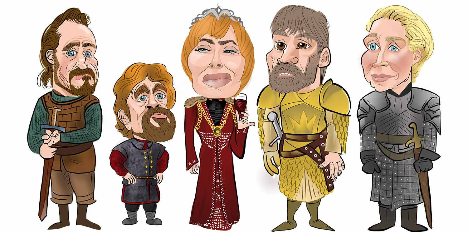 Game of Thrones caricature. House Lanister Caricature