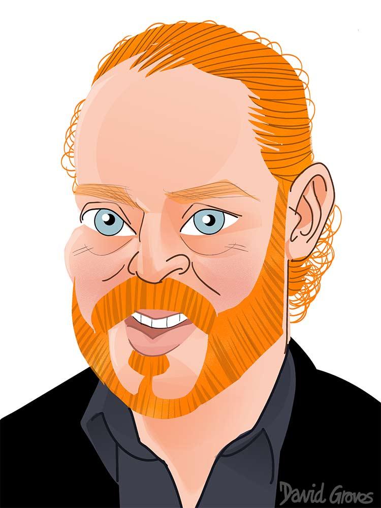 Keith Lemon caricature and cartoon