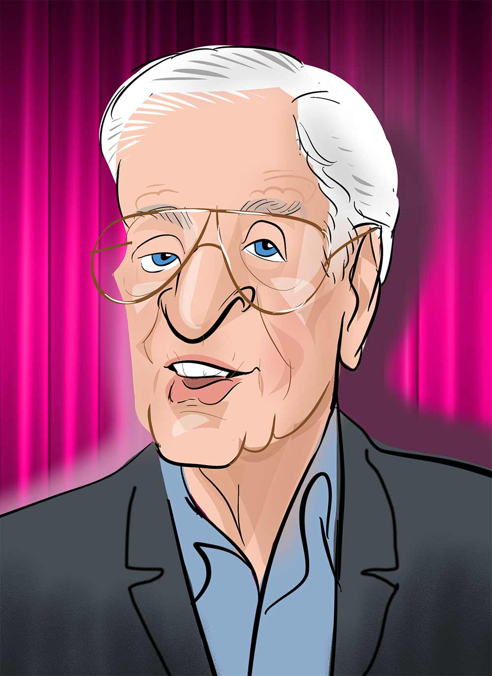 Michael Caine caricature and cartoon