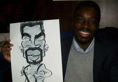 groucho club caricatures