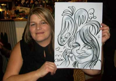 christmas caricaturist