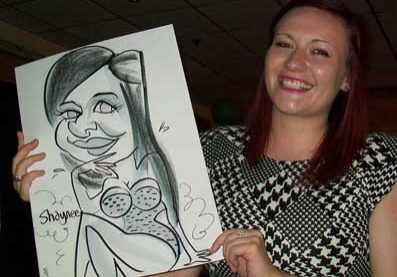 shaynee gets a caricature and looks great
